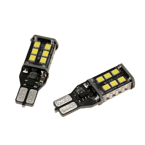 2pcs T15 LED Reverse Light Bulbs High Power Highlight Backup Parking Light Lamp Bulbs Hawk Eye Ultra Bright Car LED Reversing Light Bulb Modification