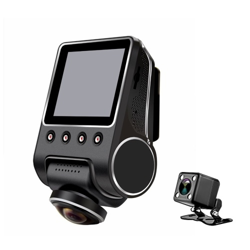 KKMOON 1080P 2.5 Inch 360 Degree Panoramic WiFi Car Fisheye Camera DVR Hidden Camcorder with Night Vision and Back Camera