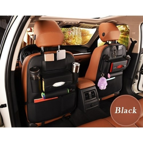 Car Seat Back Storage Bag Organizer Travel Box Pocket PU Leather Auto Accessoires