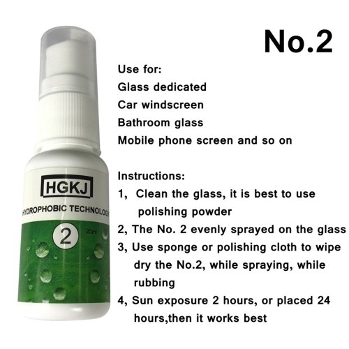 HGKJ-2-50ml Hydrophobic Coating Technology Waterproof and Rainproof Oil Glass Coating