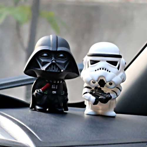 Car Ornament Cute Star Wars Action Darth Vader Figure Doll Automobiles Model Decoration Gifts