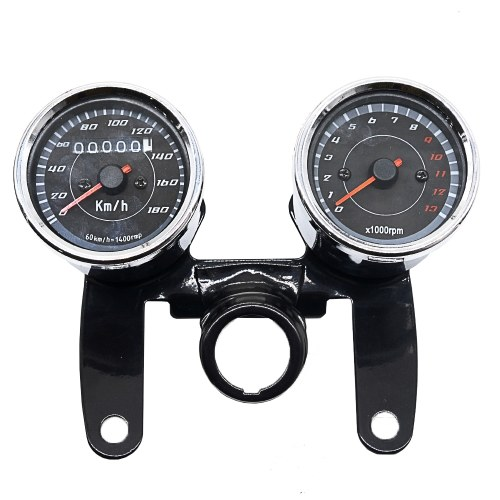 2-in-1 Motorcycle Odometer Speedometer Tachometer Speed Meter 12V for Harley  Instrument Tool of Motorbike