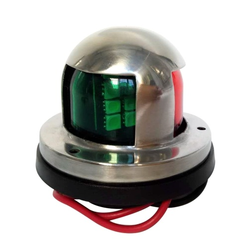 12V 5W Marine Boat Yacht Dual-color(Red+Green)Navigation Light Stainless Steel 304