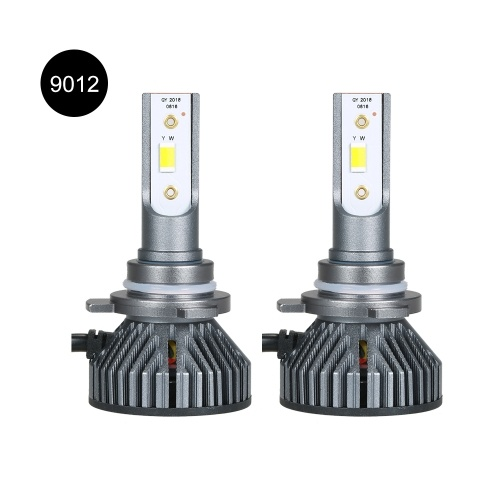 2 Pack 9012 Car LED Headlight Bulbs Conversion Kits Aluminum Alloy Body 30W 3800LM 6500K White/3000K Golden Yellow/4300K Natural Light Three Colors Five Modes