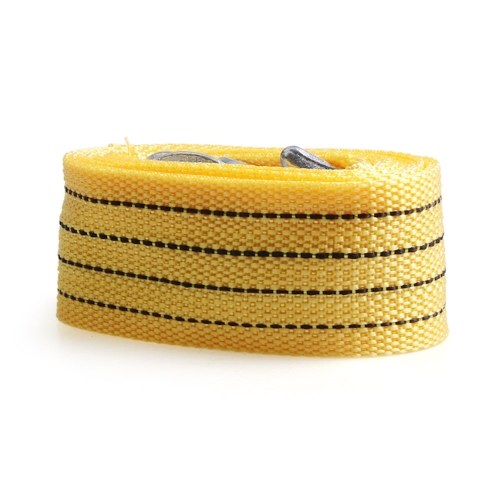 "5cm*3.0m 2"" x 10′ 6614lbs Synthetic Winch Rope Cable with Hook,Yellow"