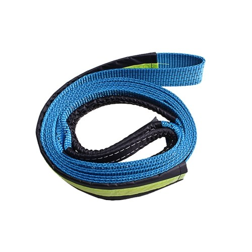 5cm*3.0m 2''x10' 17637lbs Synthetic Winch Rope Cable with U-shaped Hook,Blue