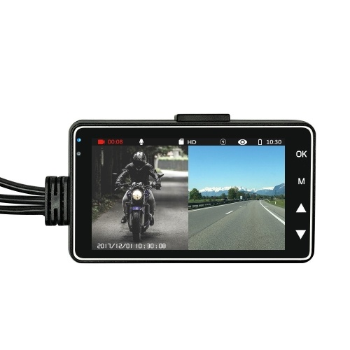 Motorcycle DVR Dual Lens Driving Recorder
