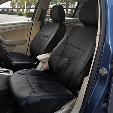 Polyester Automotive Seat Cover Set (11 Piece  Black)