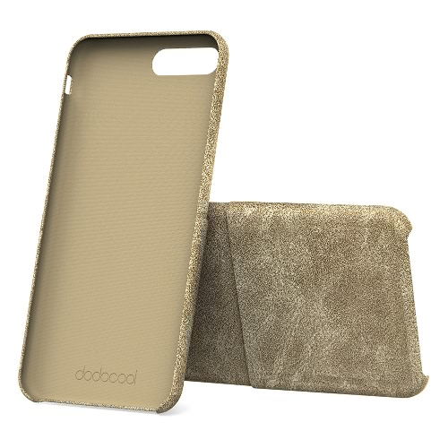 dodocool PU Leather Phone Wallet Case Protective Shell with Credit Card Holder Slot for 5.5-inch iPhone 7 Plus Khaki