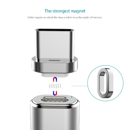 dodocool Metal Detachable Magnetic USB-C Connector for dodocool Detachable Magnetic Charge Sync Cable Silver