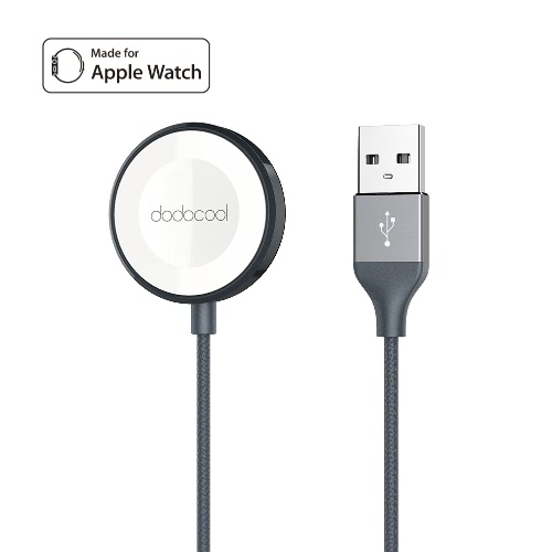 dodocool Apple Watch Charger MFi Certified 3.3ft Nylon Braided Scratch Resistant Magnetic Charger