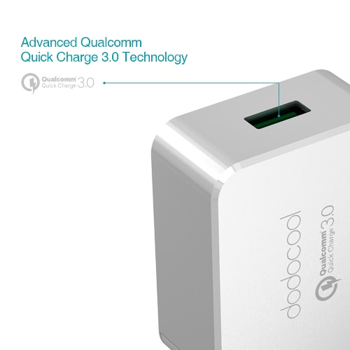 [Qualcomm Quick Charge 3.0] dodocool Quick Charge 3.0 18W USB Wall Charger for LG G5 / HTC One A9 / Sony Xperia Z4 Tablet / Xiaomi Mi 5 / LeTV Le MAX Pro US Plug
