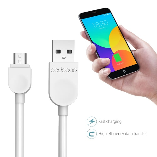 dodocool Soft TPE Micro USB Charge and Sync Cable 3.3ft / 1m White