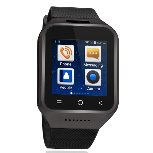 ZGPAX S8 3G WCDMA 2G GSM MTK6752 1.2GHz Dual Core Smart Watch Phone 1.54″ HD 240 * 240 Pixels Screen Android 4.4 512M RAM+4G ROM 5MP Camera GPS WiFi MP3 MP4 FM Phone Record Phonebook