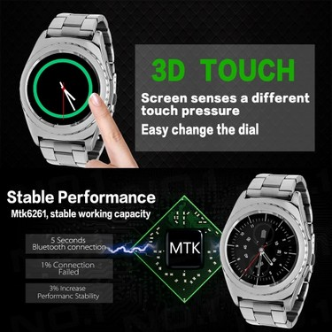 NO.1 G4 BT Heart Rate Smart Wrist Watch 2G GSM MTK6261A 128MB+64MB 1.2 Inches 240*240pixels LCD Screen with Call Logs Pedometer Thermometer Sedentary Stopwatch Remote Camera Anti-lost for Samsung S6 S7 S7 edge Motorola LG HTC Sony Smart Phone