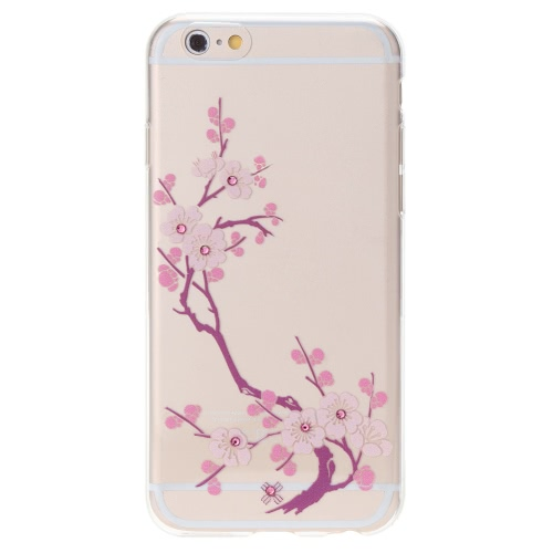 Luxury Ultra-thin Rhinestone Bling TPU Super Flexible Clear Back Shell Case Cover for iPhone 6 6S 4.7″