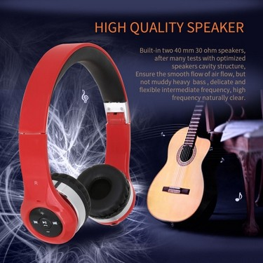 New Bee Wireless BT Stereo Earphone Headphone Stretchable Foldable Headset with Microphone  Redial/Answer/Reject/End Calls