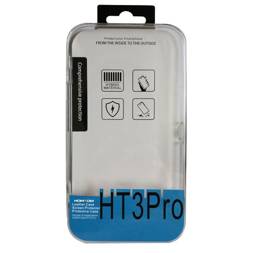HOMTOM HT3 HT3 Pro 2-in-1 Case Soft Protective Cover + Tempered Glass Film Screen Protector for HOMTOM HT3 HT3 Pro