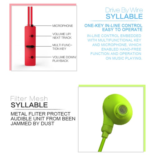 SYLLABLE A6S Necklace Wireless BT Earphone Earbuds Neckband Running Three-Way Calling Multipoint Connection with   Microphone for iPhone Android Phone