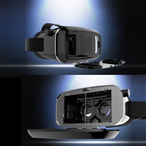 SHINECON Virtual Reality Headset 3D VR Glasses Adjustable Focal Pupil Distance for 3.5~6.0inch Android or Apple Smartphones 3D Videos Movies Games
