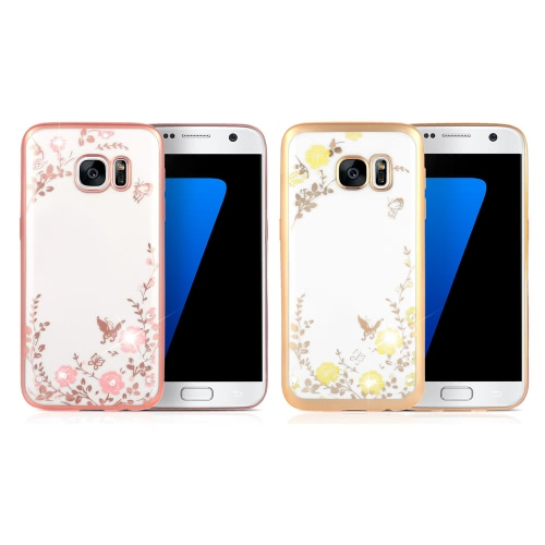KKmoon Shell Case Protective Plated Back Cover Ultrathin Lightweight TPU Fashion Bling Bumper for Samsung Galaxy S7