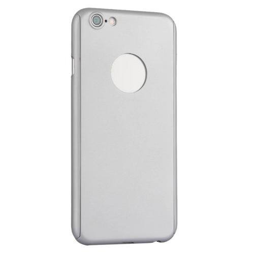 KKmoon  360° All-round Protective Slim Case Durable Shell Cover with Tempered Glass Screen Protector Film for iPhone 6 6S