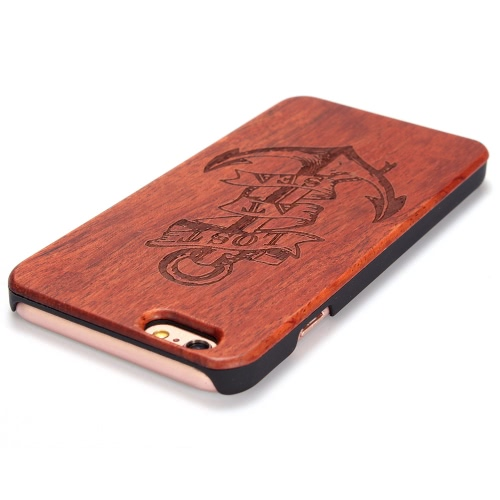 KKmoon Rosewood + PC Phone Case Protective Cover Shell for 4.7 Inches iPhone 6 6S Eco-friendly Material   Stylish Portable Ultrathin Anti-scratch Anti-dust Durable