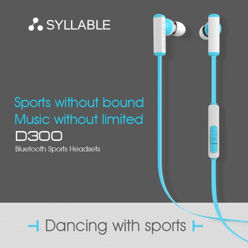 SYLLABLE D300 Sports Earphone Wireless BT Headphone Headset with Microphone Mini Wire Control for iPhone 6 6 Plus 6S 6S Plus Samsung S6