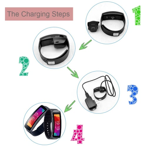 KKmoon Portable High-quality Replacement Charger Charging Cradle Dock with Micro USB Cable for Samsung Galaxy Gear Fit SM-R350 R350 SmartBand Smart Watch