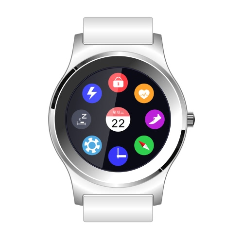 NEECOO V3 Smart Watch MTK2502C 1.3inch Screen with Genuine Leather for BT 4.0 Above Smartphone Heart Rate Monitor Pedometer Control Music Play Music   Changeable UI