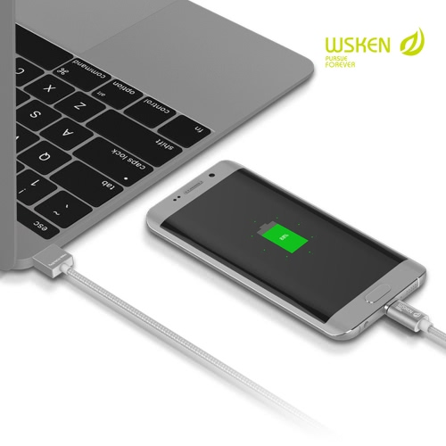 Original WSKEN X-Cable Mini 1 Metal Magnetic Micro USB Charging Cable USB 2.0 Intelligent Data Sync Charger Cord Quick Charging Anti-dust Plug for Samsung S7 S6 Edge HTC Motorola Nokia Xiaomi Android Smartphones Tablets