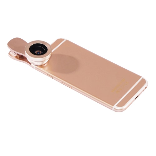 LIEQI LQ-034 2 in 1 Clip-on Optical Glass Lens HD 0.4X-0.6X Wide-angle Lens 15X Macro-lens for iPhone 7 7 Plus 6 Plus 6S Plus iPad mini Air Samsung Note 7 S6 S7 S7 edge Smartphone Tablet