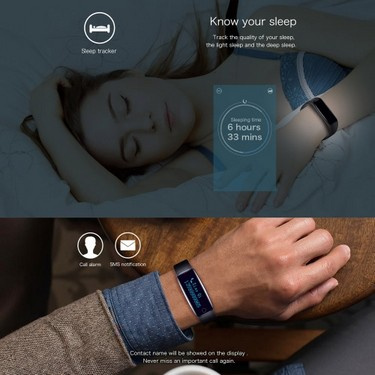 Telcast H30 Heart Rate Smart BT Sport Watch Wristband Bracelet Fitness Tracker 0.86″ OLED Call Notification Pedometer Alarm Anti-lost Sleep Monitor Smart Wake-up for iPhone 6 6S 6 Plus 6S Plus 7 Plus Samsung S6 S7 edge Android 4.4 iOS 7.0 or above