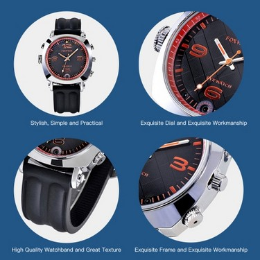 FOXWEAR Wristwatch Multi-functional Recorder Watch DVR Smartwatch 720P HD Smart Watch WiFi Remote Control Video Recording Photographing Night Version Built-in Floodlight for IOS Android Phones