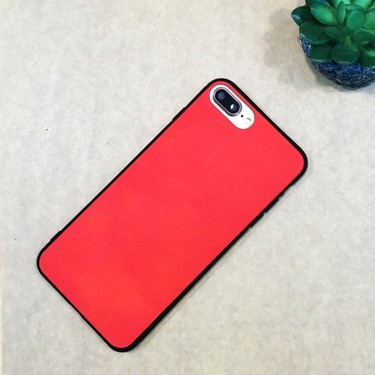Fashion Creative Interesting Induction Thermal Sensor Heat Discoloration Magical Phone Back Case Soft Cover for iPhone 6 Plus / 6s Plus Red