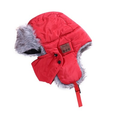 New Winter Hats Ear Flaps Fur Caps Masks Scarf Snow Cap Wireless BT Outdoor Sports Hands-free Mp3 Speaker Magic Music Smart Hat Black