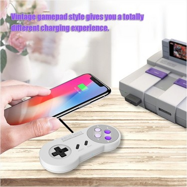 Qi Wireless Charger 10W 5W Vintage SFC Gamepad Souvenir Edition