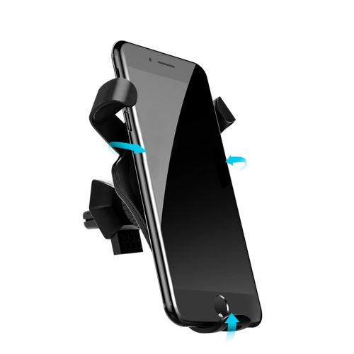2-in-1 Design Qi Standard Car Wireless Charger Stand Gravity Car Mount Air Vent Phone Holder Cradle Fast Wireless Charging Stand for iPhone X/8/8 Plus & Samsung Galaxy S8/S8+/S7 Edge/S7/S6 Edge+/Note 5/Note 8