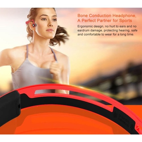 Wireless Bone Conduction Headphones ES-268 HD Stereo BT4.2 Earphone Headset Outdoor Sports Music Headphone MP3 Player Support Hands-free for Smartphones Tablets PC Notebook
