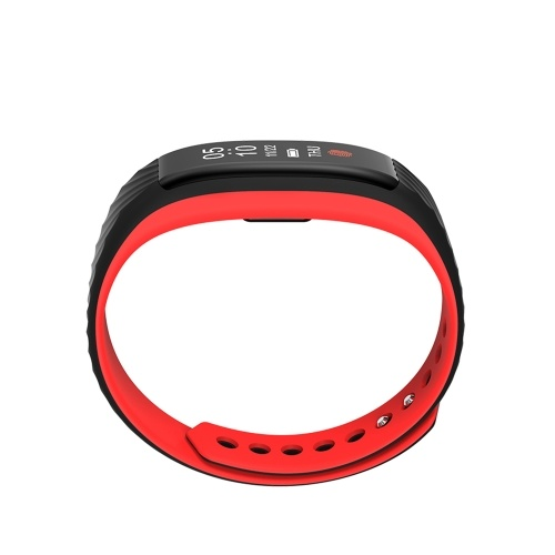 Smart Bracelet Fitness Tracker Smart Wristband 0.87″ OLED Touch Screen BT 4.0 Smart Band Pedometer Heart Rate Monitoring Call Message Reminder Remote Camera for iOS Android Smartphones