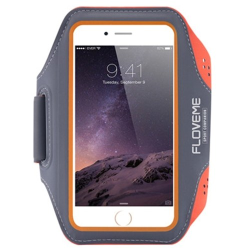 FLOVEME Sport Armband Phone Case for iPhone 6/6S/7 Outdoor Water-resistant Running Fitness Adjustable Belt with Key Slot