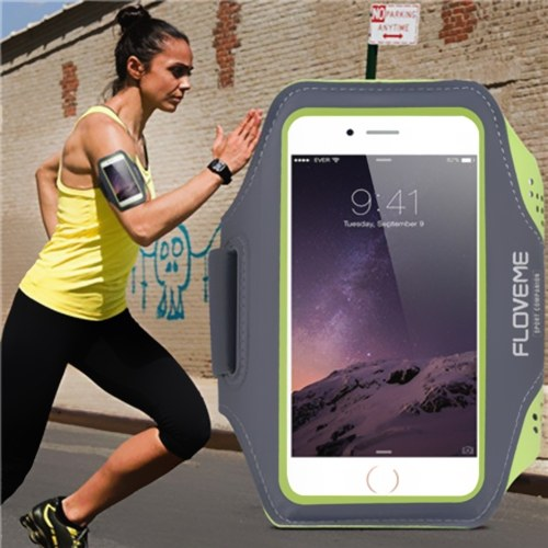 FLOVEME Universal Sport Fitness Armband Phone Case Adjustable Belt with Key Slot for iPhone 6 Plus/6S Plus/7 Plus
