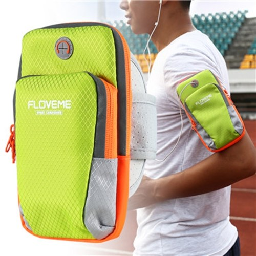 FLOVEME Universal Sports Phone Bag Outdoor Running Water-resistant Armband Case for 3.5-6.0 inch Smartphone
