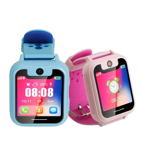 Kid Smart Watch Phone for Children Girls Boys LBS Positioning Tracker Locator 1.54″ TFT Touch Screen Camera Flashlight Smartwatch with SIM Card Slot Remote Monitor Calls Anti-lost SOS Alarm Suitable for iOS Android Smartphones