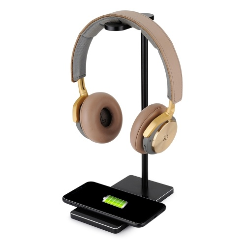 Wireless Charger Fast Charge Headphone Stand Slim Earphone Bracket