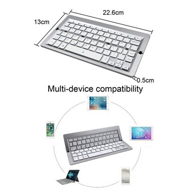 FK608A BT Keyboard Foldable Mini Wireless Touchpad Keypad for iOS Windows Android Tablet Smartphone