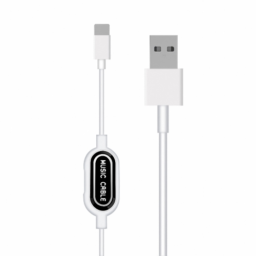 Lightning Charging & Data Cable with Lightning Headset Jack for iPhone X 8 8 Plus 7 Plus Sync with Music Play & Charging Data Transimission