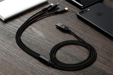 High-quality Nylon Braided Type-C Lightning Micro USB Data Cable 3 in 1 Fast Charge Stable Data Transmission Charging Cable for iPhone X 8 Samsung Galaxy S9 S8 iOS Android Phone