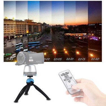 PULUZ Pocket Mini Tripod Mount with 360-Degree Rotable Ball Head & Phone Clamp for Smartphone GoPro DSLR Camera