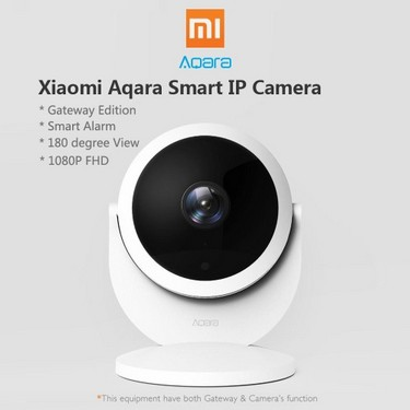 Original Xiaomi Mijia Aqara Smart IP Camera Smart Linkage Alarm 180 Degree 1080P HD Home Security Camera